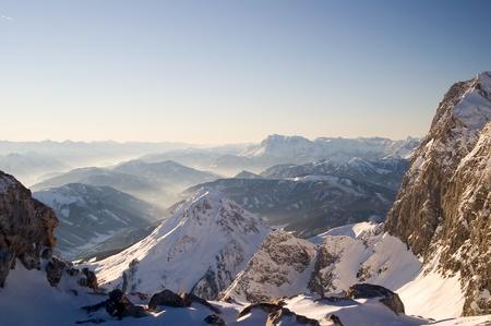 Dachstein mountain view, Austria Stock Photo