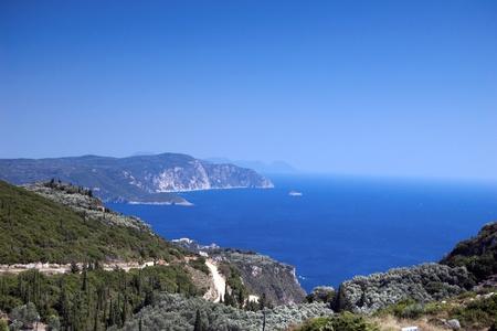 Rocky cliffs around Corfou island, Greece
