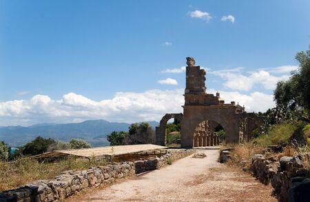 Archaeological ruins, Tindari, Sicily Stock Photo