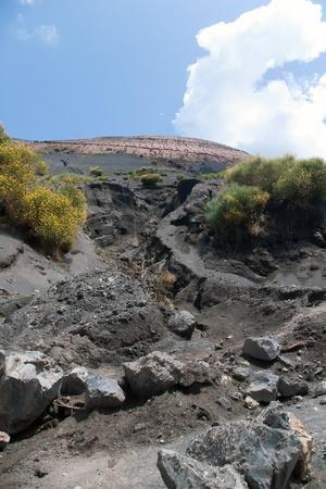 vulcano: Vulcano - Dried riverbed  - active volcano, Lipari, Sicily, Italy Stock Photo