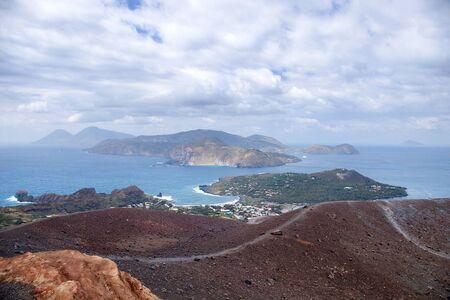 vulcano: Cloudy coast of Lipari Island, Vulcano, Italy Stock Photo
