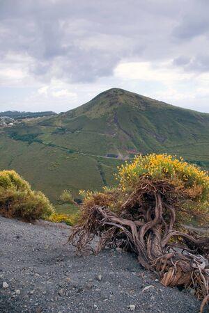 Storm clouds over Vulcano - volcano, Lipari, Sicily, Italy photo
