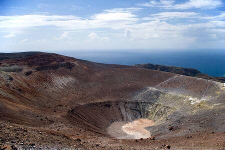 Grand crater Vulcano, Lipari Island, Sicily, Italy photo