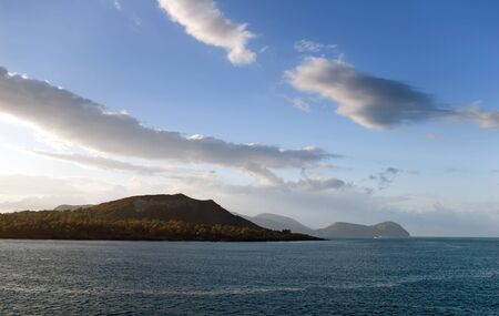 lipari: Sea view of Lipari islands, Italy Stock Photo