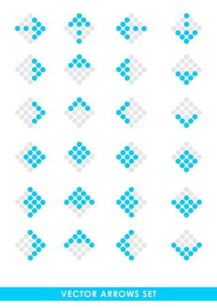 Blue vector set of arrows Vector