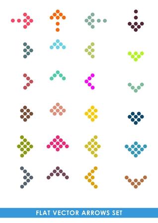 Flat color vector arrows set Vector