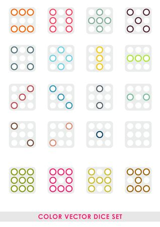 Color vector dice set Vector
