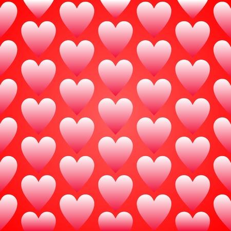 Red heart seamless background pattern flat design