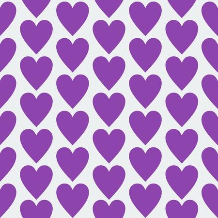 Purple flat seamless heart pattern design