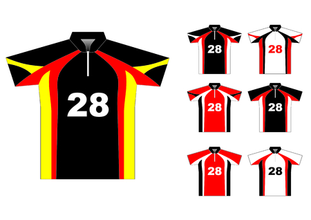 Vector sport jersey with color variations Vector