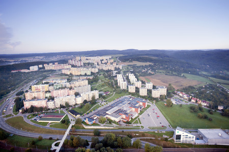 Aerial city view, Brno, Czech Republic photo