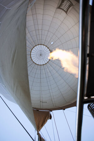 Hot air fills balloon Editorial