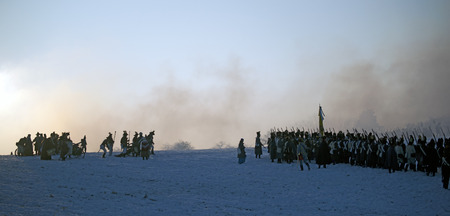 austerlitz: Warriors preparing for the fight, Austerlitz, Czech Republic