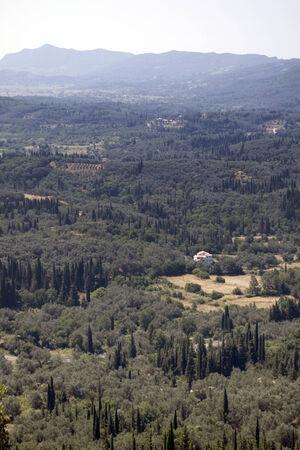 Corfu from above Stock Photo
