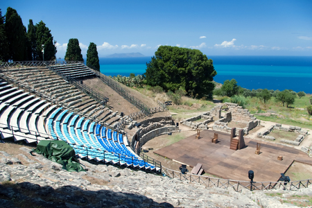 amphitheatre: Classical old amphitheatre, Sicily, Italy