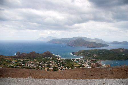 Storm coming on the coast of Lipari Island, Vulcano, Italy photo