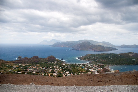 lipari: Storm coming on the coast of Lipari Island, Vulcano, Italy