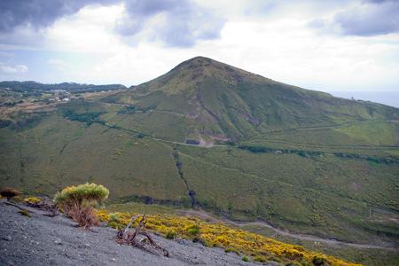 vulcano: Storm clouds over Vulcano - volcano, Lipari, Sicily, Italy