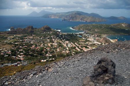 vulcano: Storm coming on the coast of Lipari Island, Vulcano, Italy