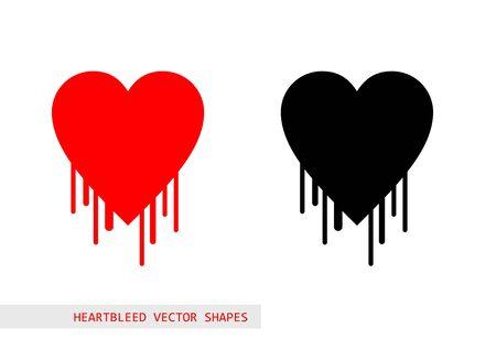 Heartbleed openssl bug vector shape Vector