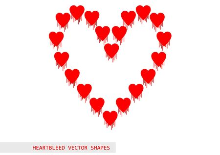 vulnerable: Heartbleed openssl bug vector shape