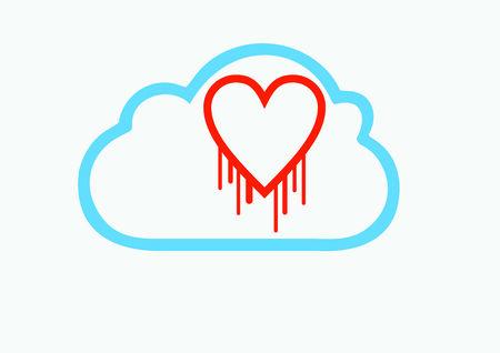 hack: Cloud server data hack problem Illustration