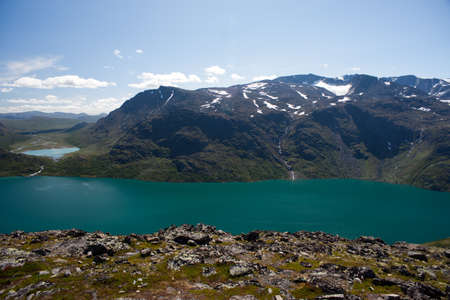 Besseggen Ridge in Jotunheimen Park, Norway