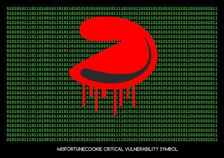 vulnerability: Misfortune cookie critical vulnerability router problem - Vector bleeding cookie symbol
