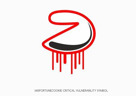 soho: Misfortune cookie critical vulnerability router problem - Vector bleeding cookie symbol