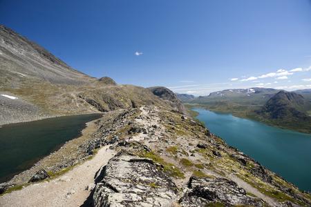 besseggen: Besseggen Ridge in Jotunheimen National Park Norway Stock Photo