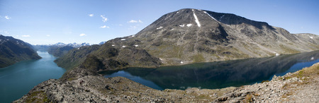 jotunheimen national park: Besseggen Ridge in Jotunheimen National Park Norway Stock Photo
