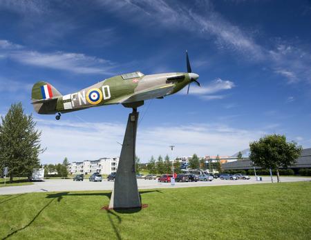 world war 2: Spitfire monument world war 2, Norway