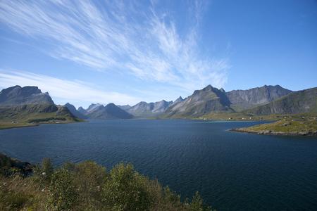 Summer view of Lofoten Islands, Norway