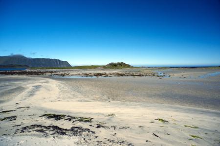 Sand beach on Lofoten Island, Norway
