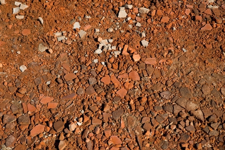 scarp: Pieces of broken bricks on the ground, abstract background