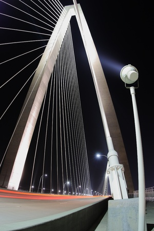 Arthur Ravenel Jr. Bridge in Charleston, South Carolina at night