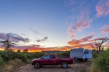 Camping In the Cleveland National Forest In Mount Laguna Stockfoto