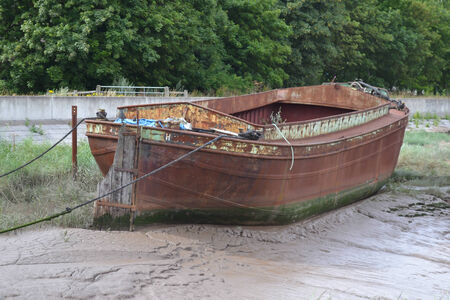 deteriorated: An image of a long forgotten boat that has now rusted