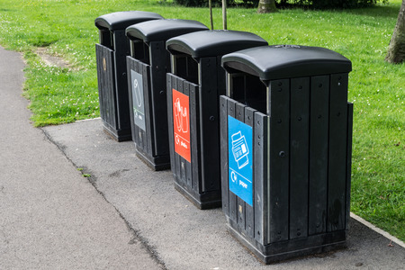 Recycling Bins in the Park Banco de Imagens - 30017723
