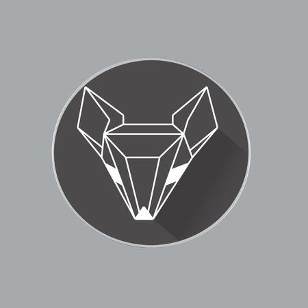 Beautiful geometric fox Vector