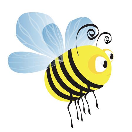aciculum: Funny vector bee