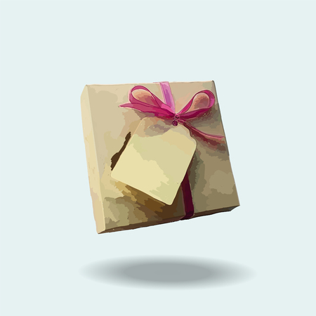 Cute gift for your loved ones, vector illustration