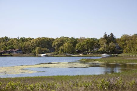 The inlet at Noyack bay  was taken at Clam Island and is located in the town of Southampton, Long Island, New York.