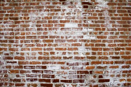 Another Brick in the Wall   Background image of bricks and white wash Stock Photo
