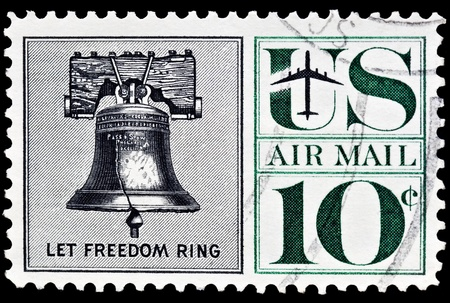 postage stamp: Liberty Bell Airmail Postal stamp was issued in 1960