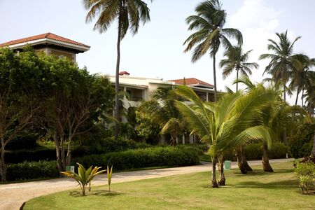 Resort grounds at Punta Cana, Dominican Republic. Editorial