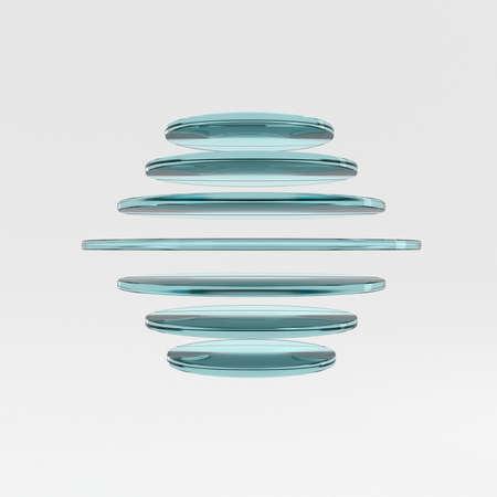 glass reflection: Glass logo on a white background