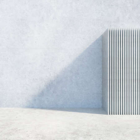 render: Abstract Modern Architecture Background. 3d Render Illustration Stock Photo