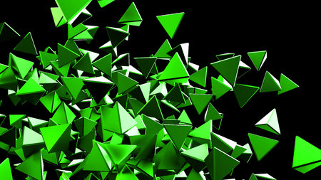 famous industries: Abstract background with polygonal particles