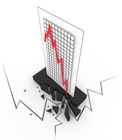 3d Crisis Chart Stock Photo - 4313059